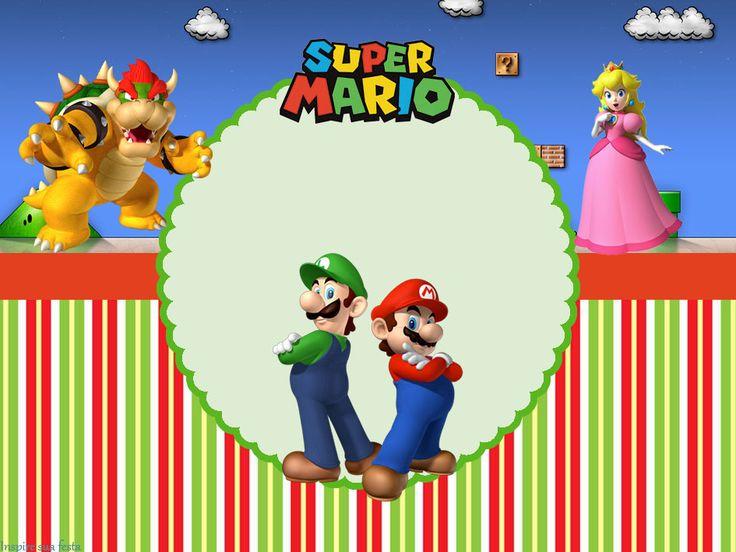 Super Mario Bros Party: Free Printable Invitations.
