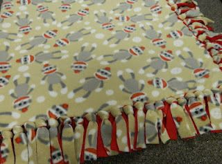 How to make a homemade blanket. Will be making this for my baby boy :-)