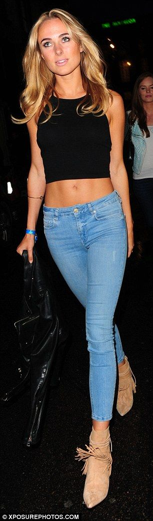Charity bash: Kimberley was also spotted at the Jeans for Genes party on Wednesday night, ...