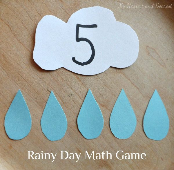 This math game is easy to make and fun to play. Great for practicing one-to-one correspondence and patterning.