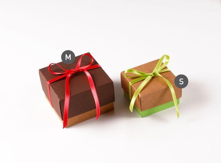 Scatola quadrata con coperchio | Gift boxes with lids ...