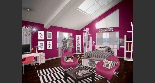Magenta bedroom