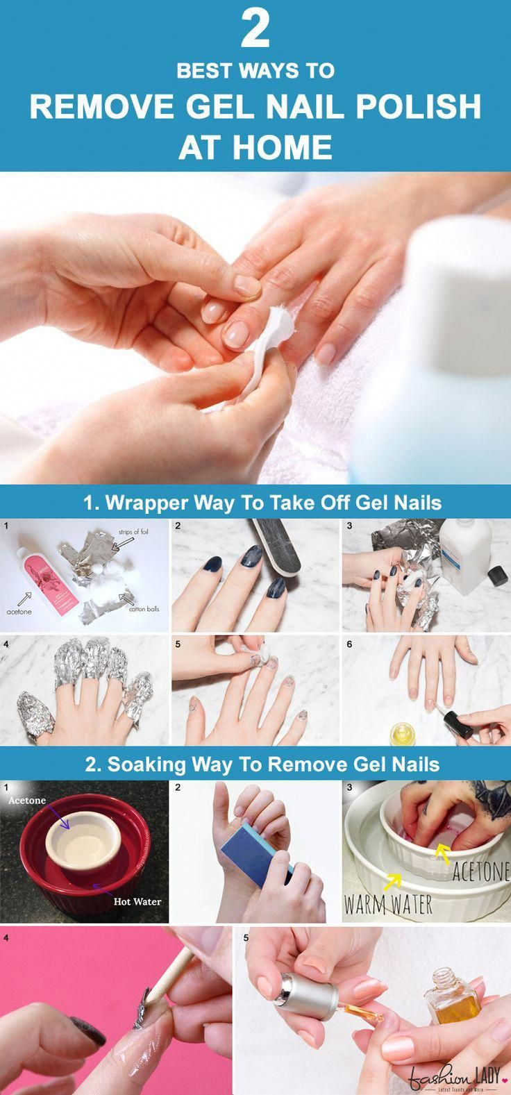 2 Best Ways To Remove Gel Nail Polish At Home Removinggelnailpolishathome Gel Nail Removal Take Off Gel Nails Gel Nail Varnish