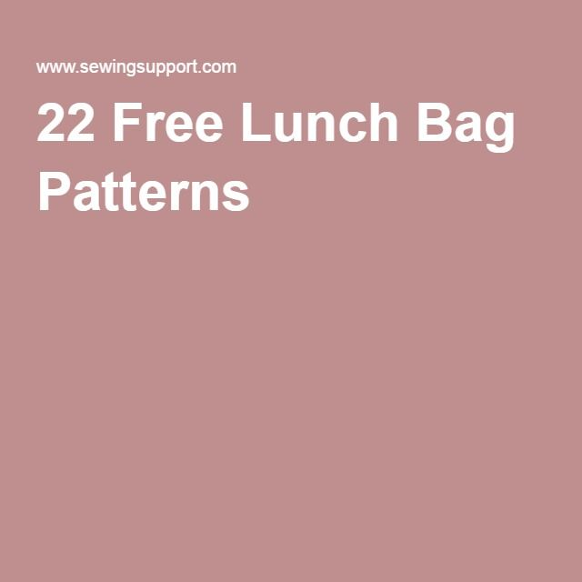 22 Free Lunch Bag Patterns