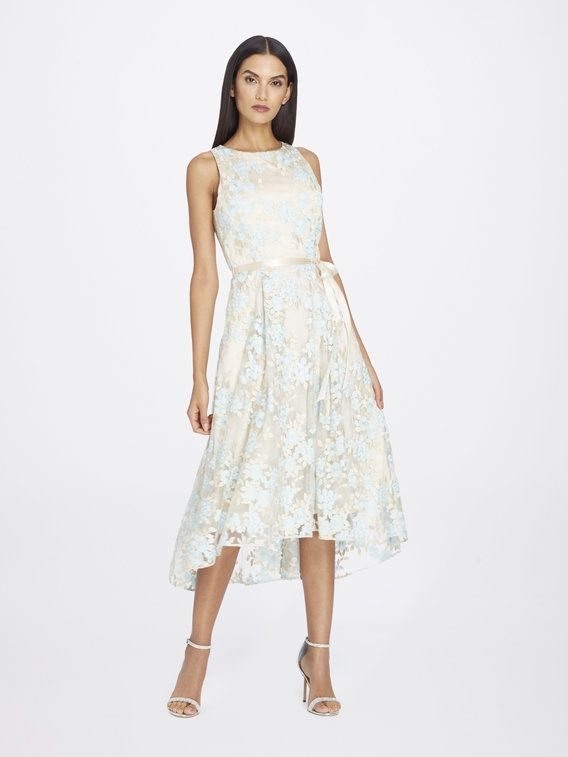 Check Out Embroidered Floral Ribbon Dress From Tahari Asl Ribbon Dress Dresses
