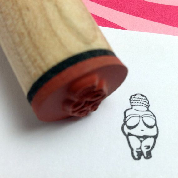 Neolithic Goddess Rubber Stamp  Venus of Willendorf by RADstamps, $3.75