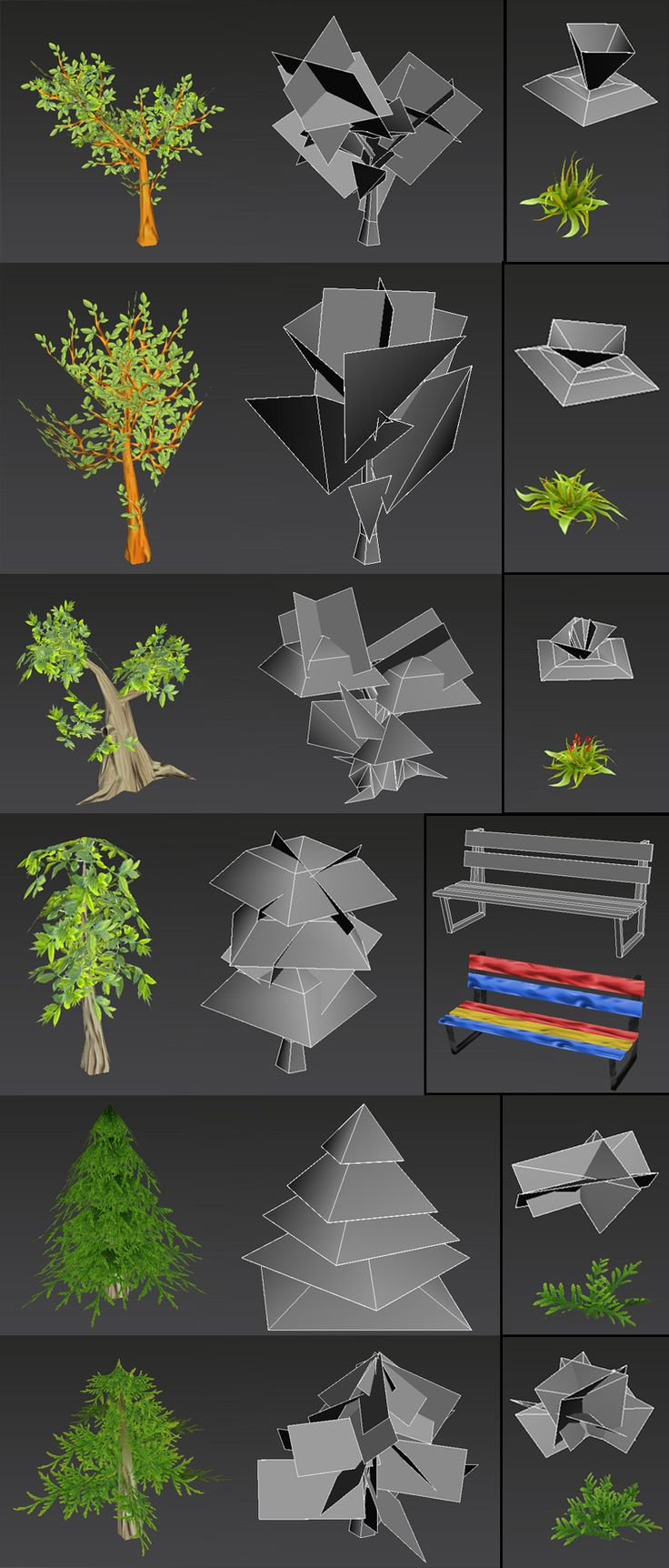 tree, low poly