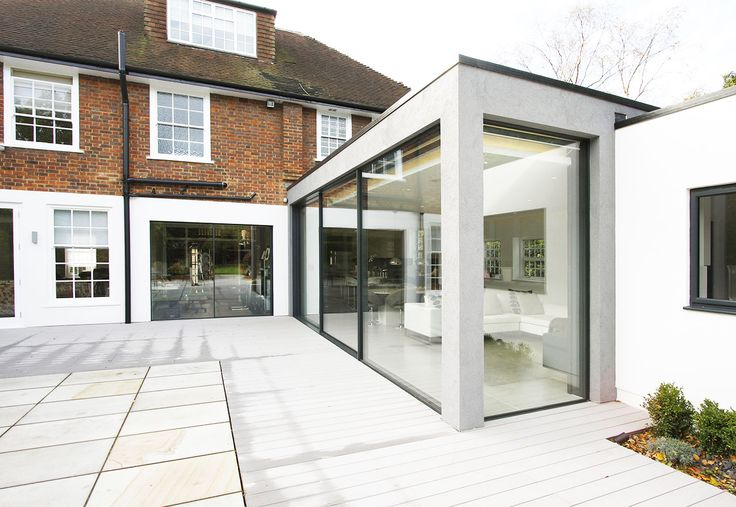 Uphill Road Contemporary Extension in London using Minimal Windows Sliding Doors