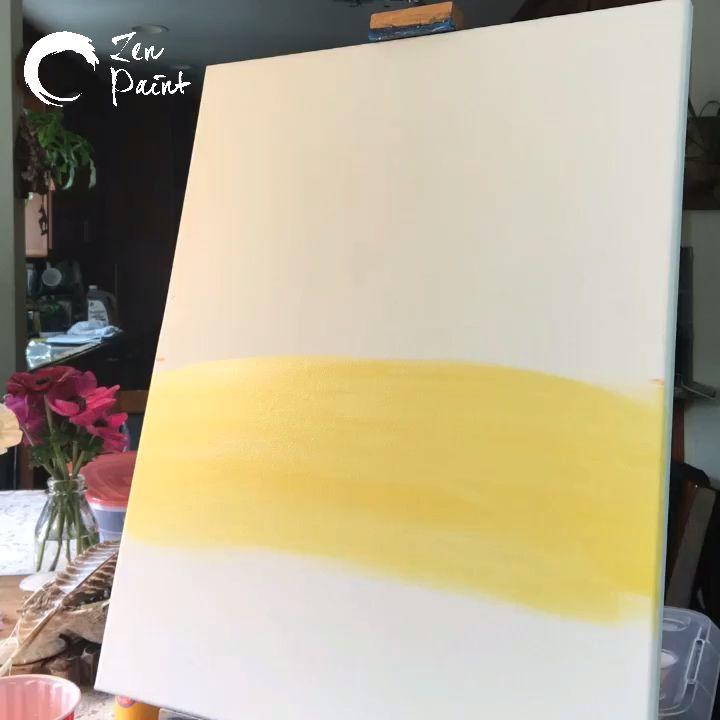 Einfache Acrylmalerei auf Leinwand