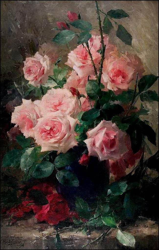 Flowers by great painters (48) – Max Albert Carlier (1872-1938