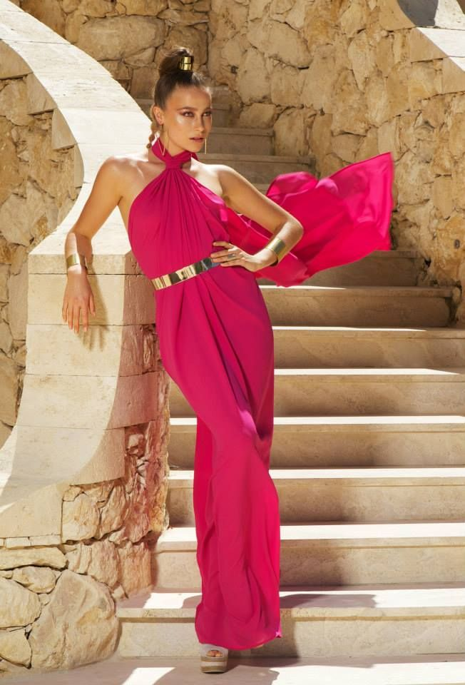 Naxos dress pink