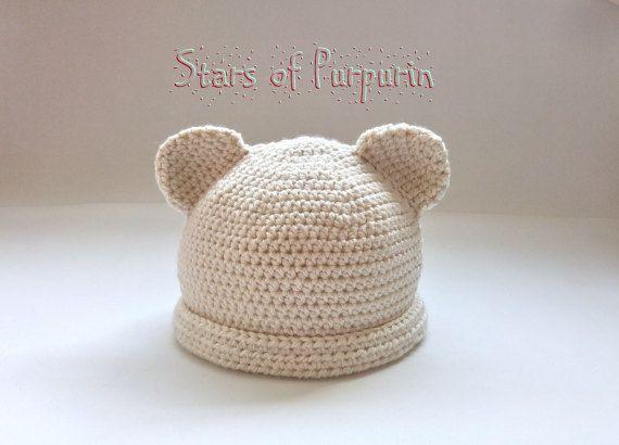 Gorro Mi Dulce Osito  Gorro para Bebé  Unisex por StarsOfPurpurin