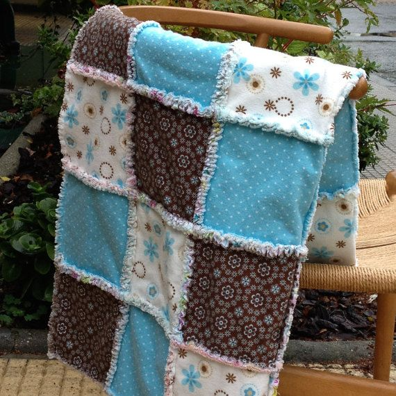 Rag Quilt. BeldaBelda.com. This is a soft rag quilt patchwork blanket made of cotton flannel.