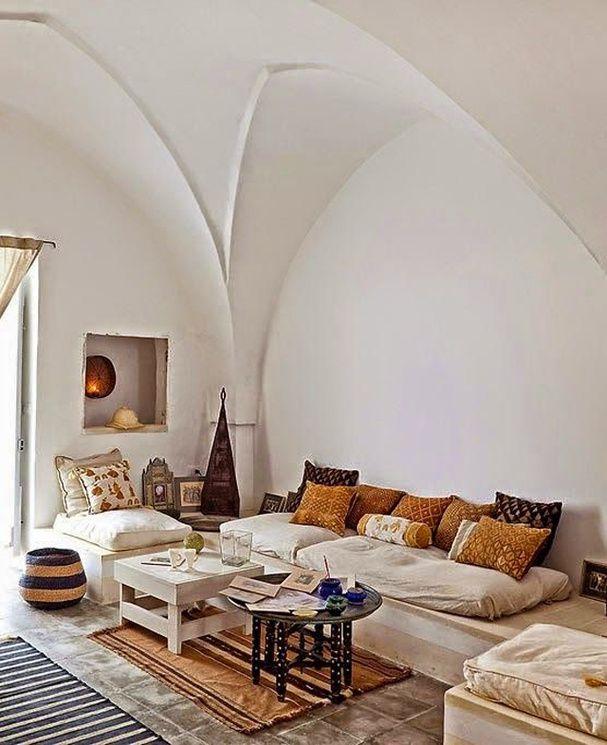 Un salon vouté d'inspiration marocaine