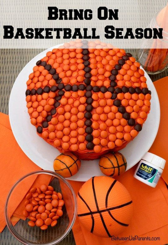Bring on basketball season with chocolate peanut butter basketball cake - Between Us Parents