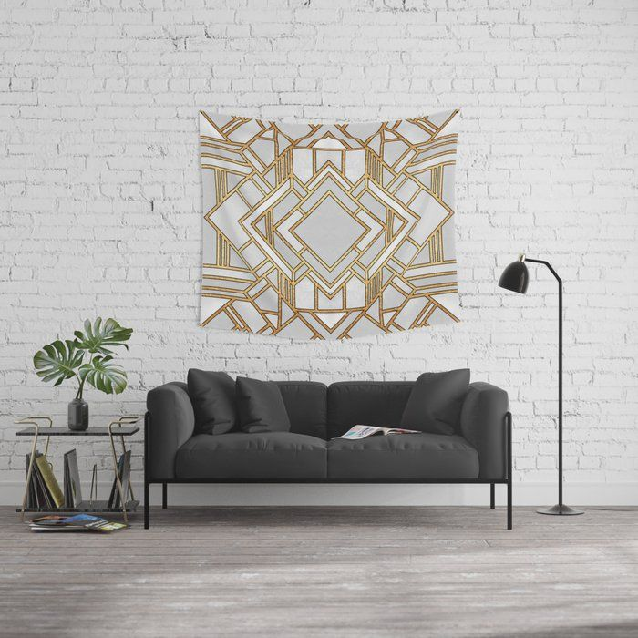 Art Deco Wall Tapestry Wall Deco College Wall Decor Wall Tapestry