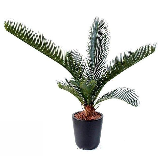 Palmier Cycas artificiel en pot H 60 cm 10 palmes Top ARTIFICIELLES