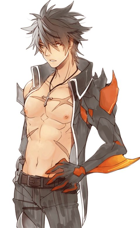 "((You RP as him)) ""ugh what a stressful day..."" He said as I interrupted ""yeah"" I said as I stretch. I looked over my shoulder to what look liked he was changing, I blushed hard, I turned red in embarrassment, and quickly turned back around to where I was... He responded with ""what, ya like what you see""  HIS ABS *passes out from bloody nose*"