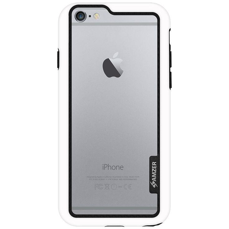 Boční kryt na iPhone 6, 6s Amzer Border Case AMZ97284 bílý