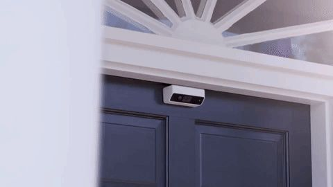 This battery-powered security camera fits on your front door