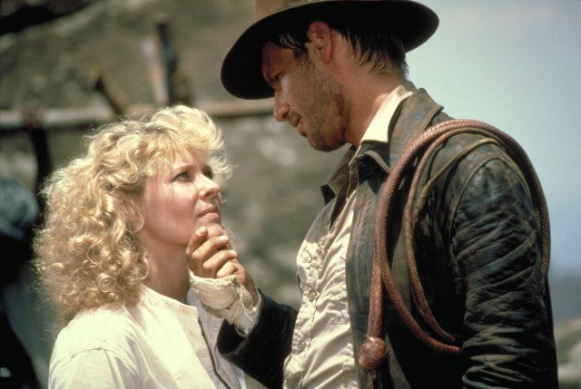 Harrison Ford and Kate Capshaw in Indiana Jones and the Temple of Doom