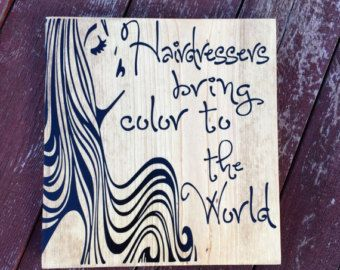 Rustic Wooden Signs Hairstylist Hair Stylist The by wcbybettina                                                                                                                                                                                 More
