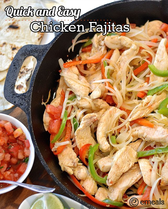 349 best easy chicken dinners images on pinterest recipe recipe quick and easy chicken fajitas forumfinder Choice Image