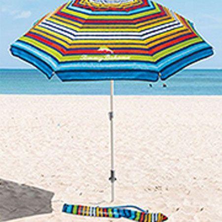 Sombrilla de playa multicolor de más de 2 metros de diámetro. Mira qué precios ahora