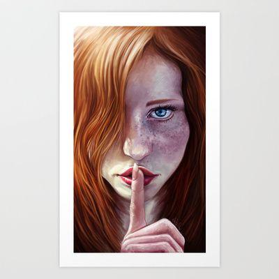 Shhh+Art+Print+by+Jordygraph+-+$15.60