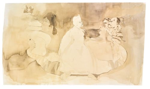 'Fairy Godmother Offers Some Unrequested Advice'  Kara Walker. Sotheby's 2016 est. $80,000 — 120,000.