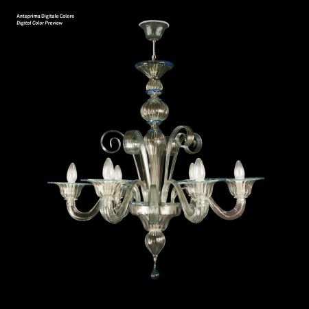 Mercurio - Artistic #Murano's #chandelier worked exclusively by hand with the ancient art of #Murano #glass masters from #Venice. Visit our web site www.sognidicristallo.it to see or buy online our creations! Price 5 lights 380 euro, on sale!