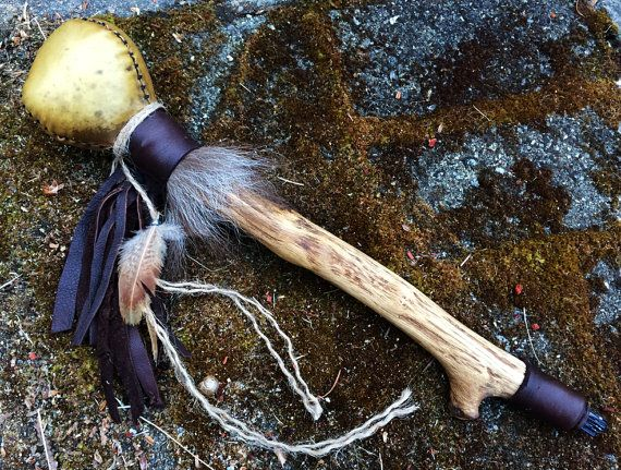 Earth Dance Shaman Rattle by savagedryad on Etsy, $135.00