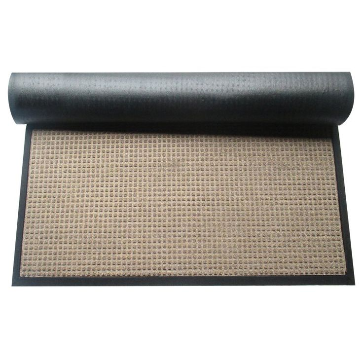 A1 Home Collections First Impression Anti Slip Indoor/Outdoor Rubber Scraper Mat - A1HCPR03-BEIGE