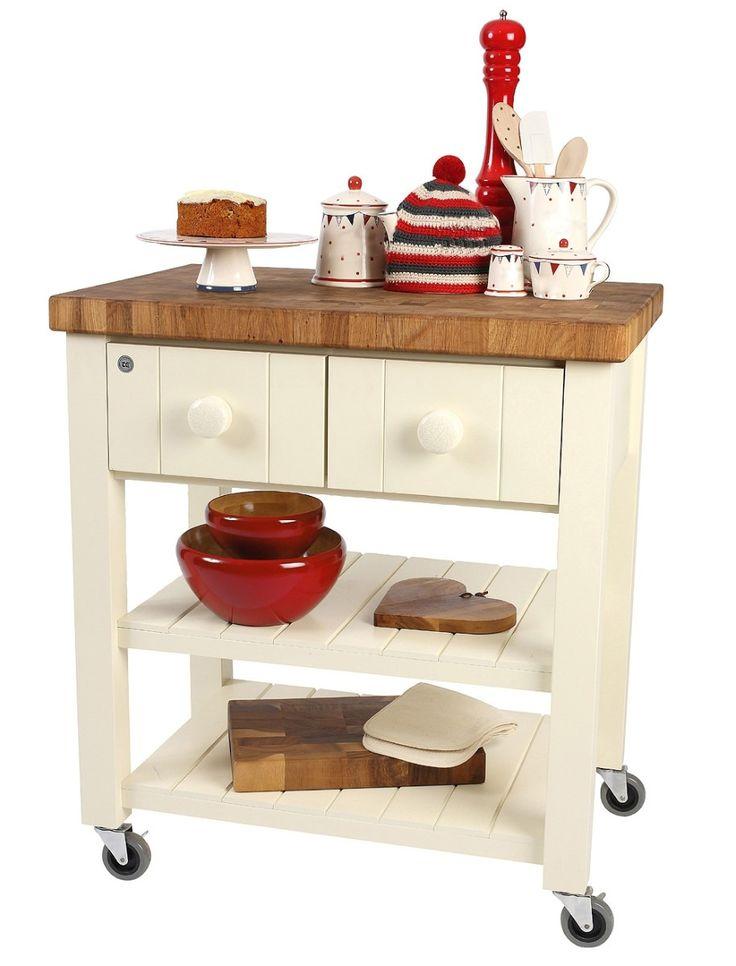 Mesa mesa mesas auxiliar de cocina en madera maciza for Mesa auxiliar isla de cocina