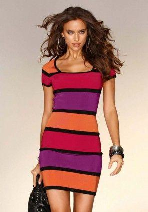 Knit dress, multicolour
