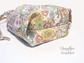 巾着袋の作り方 裏地付き・折りマチ(隠しマチ)   NUNOTOIRO