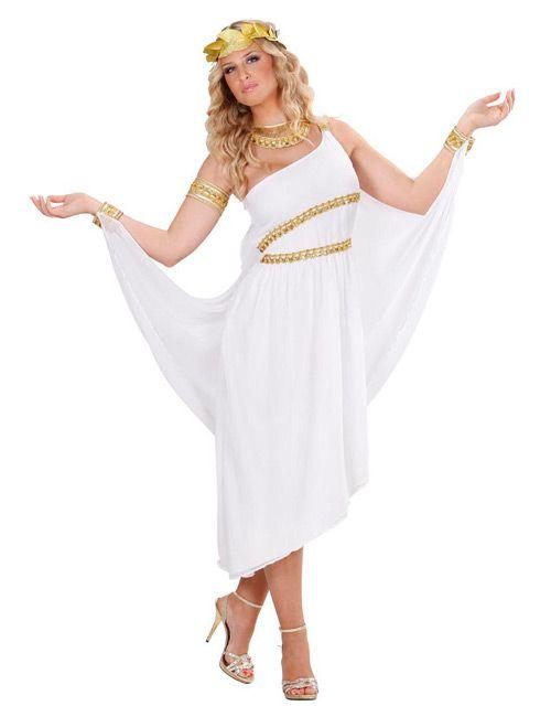 Antike Göttin Damen-Kostüm Griechin weiss-gold - Artikelnummer: 540770000
