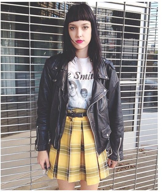 Deandri 'Nancy' yellow plaid skirt