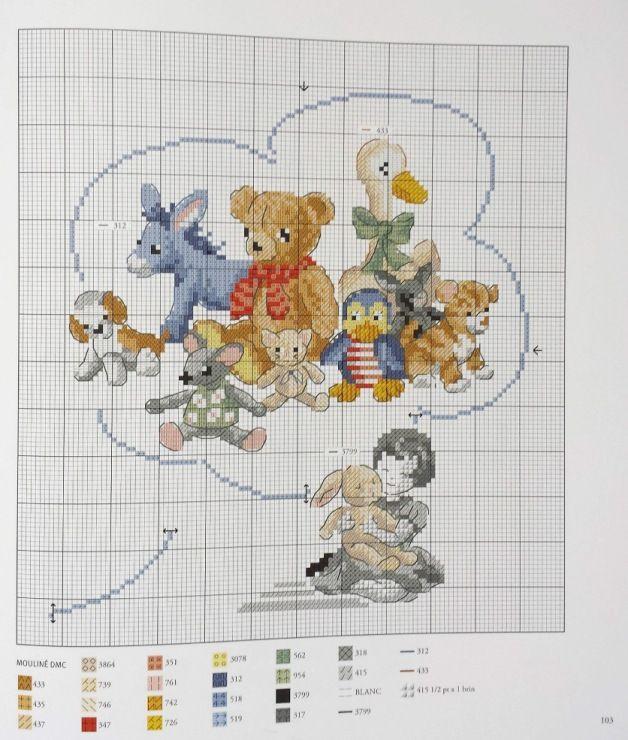 4625 best grille point de croix bebe images on Pinterest ...