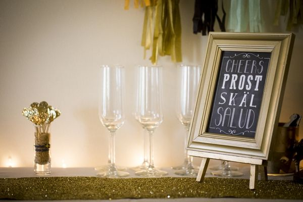 DIY Engagement Party ~ So-Cal Style... cheers sign! SO cute!!!! Image: Ashley dePencier Photography // event design: Mint Design