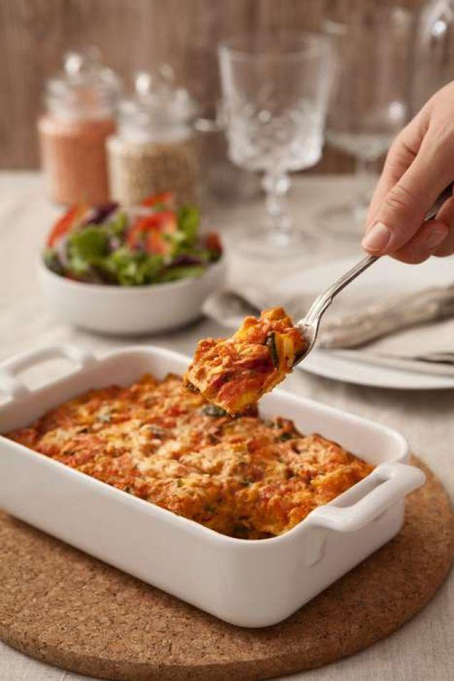 En lasagne utan kött men med mycket smak! Innehåller 570 kcal