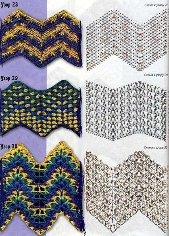 158 best Zig-zag crochet images on Pinterest   Diagrama de ganchillo ...