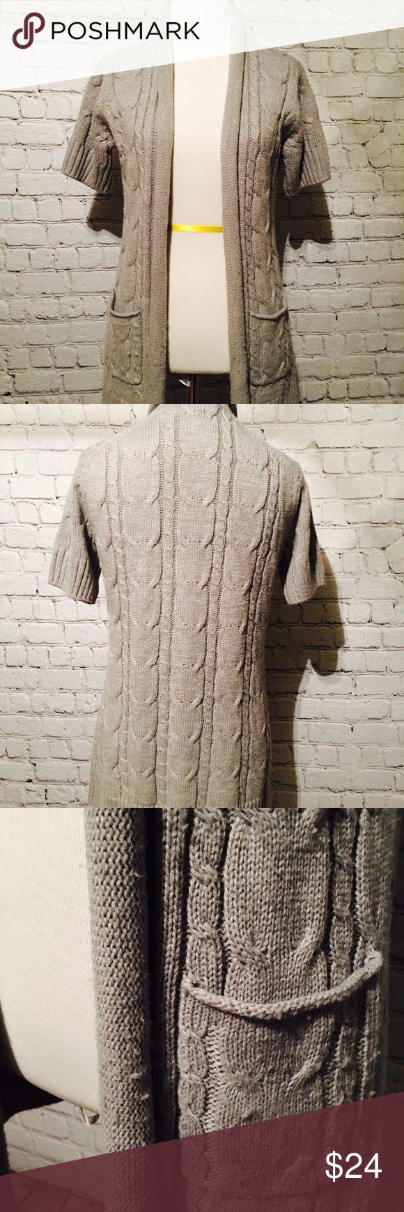 Short sleeve cardigan sweater Gray short sleeve cardigan sweater Caslon Sweaters Cardigans
