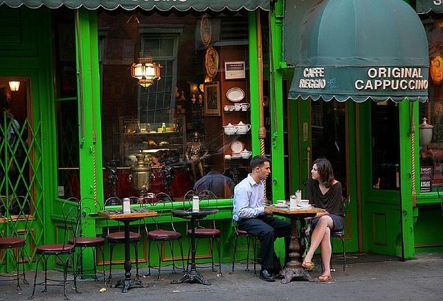 Cafe Reggio: 119 MacDougal Street, between W. 3rd Street and Minetta Lane