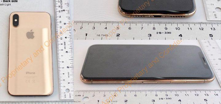 Fotos del iPhone X dorado
