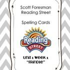 """Scott Foresman Reading Street Spelling Cards - Unit 1 Week 1 """"Frindle""""    Unit 1 Week 1 - Frindle    Pre-made cards for each spelling word in the unit. Perfect for centers or fo..."""