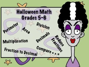 Have your students involved in a spooky review of those all important basics! These skills review the first 9 weeks or so of the 5th grade year so would be a wonderful review for 5th as well as 6th to make sure they have not lost those needed skills.Includes: * Zombi-fied information page about finding perimeter and area* Four zombie attacking perimeter and area practice pages* Which witch has the answer: match the monster holding a math problem to the witch with the answer in the crystal…