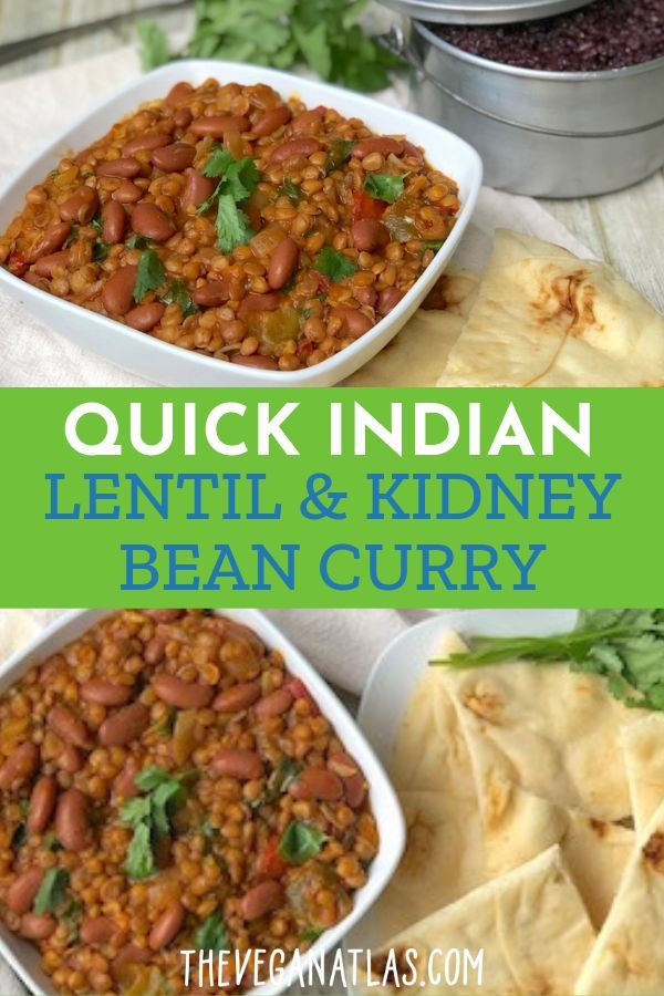 Quick Indian Lentil And Kidney Bean Curry