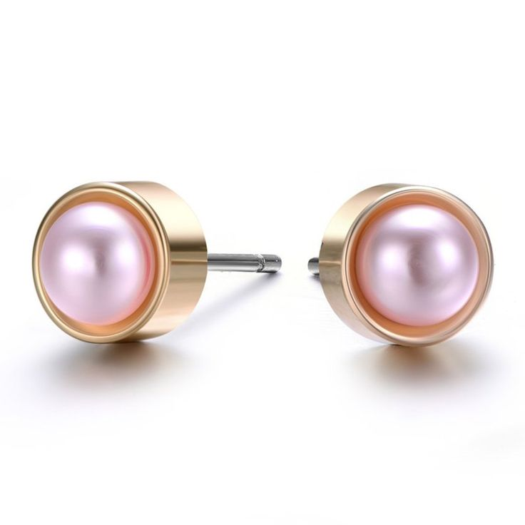 Gold & Honey: Pearl & Gold Stud Earrings By Amrita Sen/Jewels to Jet