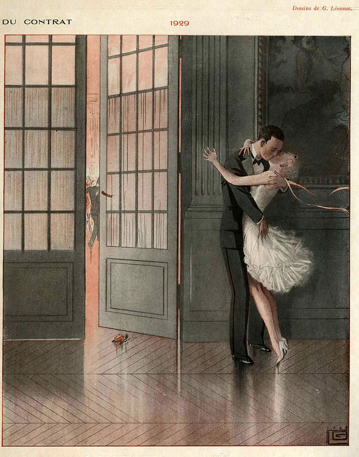 1929 Art Deco: Photo~I pray we kiss like this after having been married fifty years.